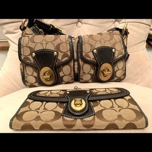 Coach authentic handbag and matching wallet